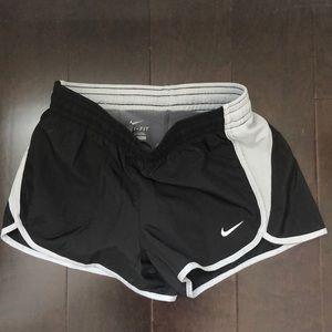 Nike Dri Fit Black Grey Running Shorts Size XS